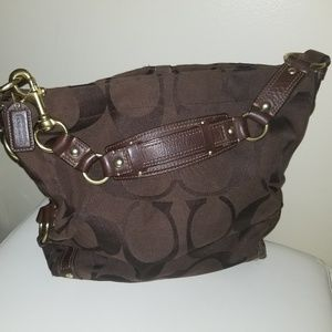 COACH Carly Chocolate Brown Large C Tote